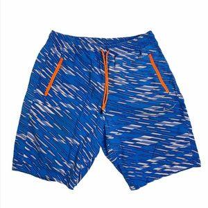 Nike blue summer swim beach shorts size large